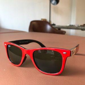 rare red ray-ban wayfarer made in italy